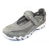Allrounder By Mephisto Women's Niro In Cemento Python Embossed Suede/Open Mesh 60/05