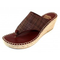 Andre Assous Women's Addie In Chocolate Woven Leather