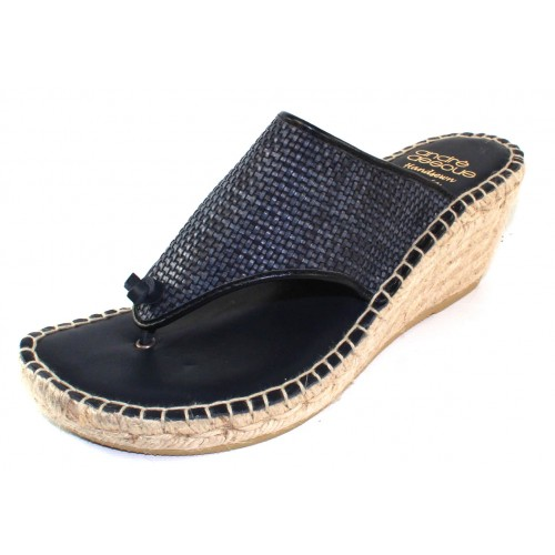 Andre Assous Women's Addie In Navy Blue Woven Leather