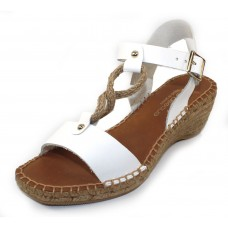 Andre Assous Women's Camila In White Vaquetta Leather/Rope