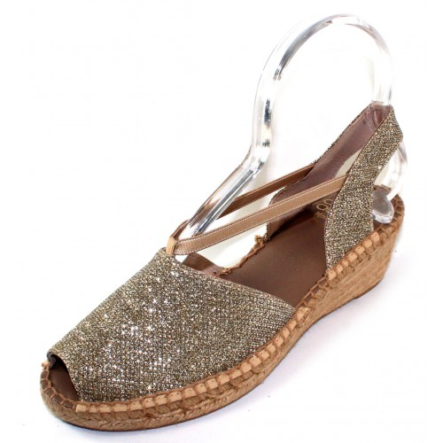 Andre Assous Women's Dainty In Beige Metallic Leather