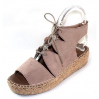Andre Assous Women's Elika In Taupe Beige Suede
