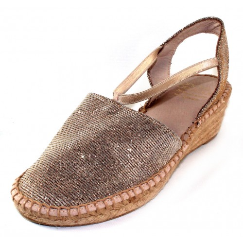 Andre Assous Women's Hailey In Champagne Sparkle Fabric