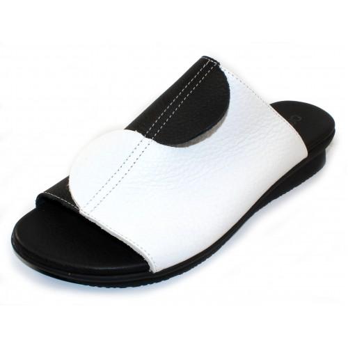Arche Women's Aurion In Noir/Blanc Vachette Fast Leather - Black/White