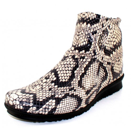 Arche Women's Baryky In Granite Alison Snake Embossed Leather