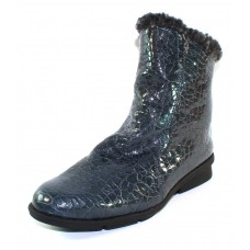 Arche Women's Delya In Prusse Erg Embossed Reptile Printed Patent Leather - Blue