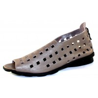 Arche Women's Drick In Zinc Fast Leather - Dark Pearl Grey