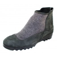 Arche Women's Jivako In Steppe Nubuck/Baltik Felt - Off Black/Dark Grey