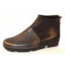 Arche Women's Kymono In Ornoir Hopi Metallic Grain Leather/Noir Grain Leather - Pewter/Black