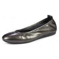 Arche Women's Laius In Grey Lack Crinkle Patent Leather