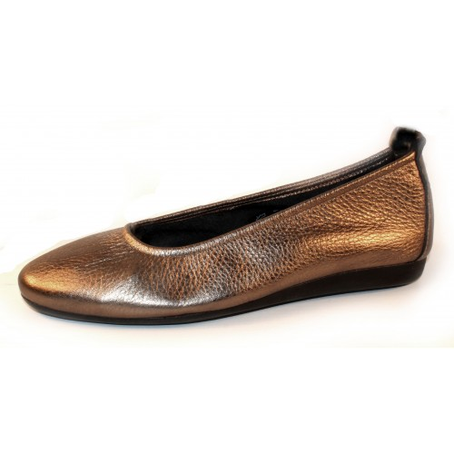 Arche Women's Laius In Micas Shade Metallic Leather/Castor Suede Insole - Bronze/Grey