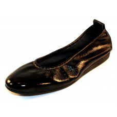Arche Women's Laius In Noir Lack Crinkle Patent Leather - Black