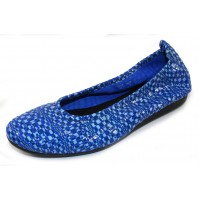 Arche Women's Laius In Zaffiro Popa Embossed Patent Leather - Bright Blue/Light Blue