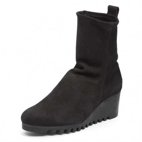 Arche Women's Larazo In Noir Nubuck - Black