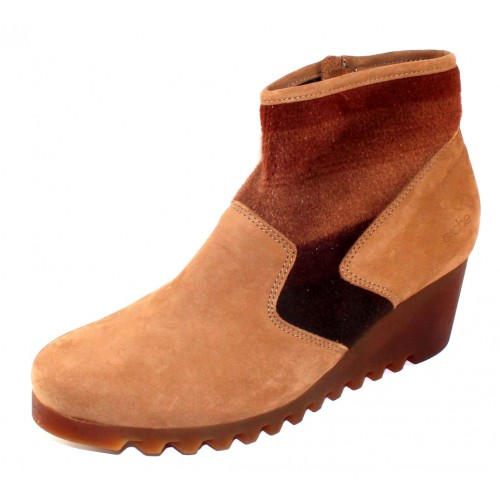 Arche Women's Larizy In Nomade Nubuck/Brown Mustang Felt - Tan