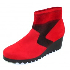 Arche Women's Larizy In Red Nubuck/Red Mustang Felt