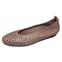 Arche Women's Lilly In Antico Fast Metal Pearlized Leather - Metallic Blush