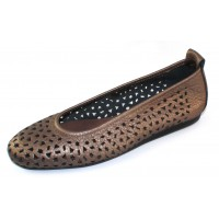 Arche Women's Lilly In Moon Fast Leather - Bronze