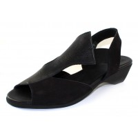 Arche Women's Obelka In Noir Nubuck/Fast Leather - Black