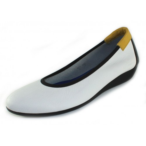 Arche Women's Onely In Blanc/Noir/Mimosa/Saphir Fast/Laki/Naka - White/Black/Yellow/Saphire