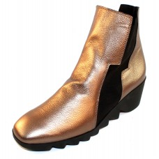 Arche Women's Patham In Moon Hopi Metallic Leather/Black Elastic - Bronze/Noir