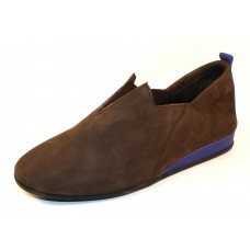 Arche Women's Piaoko In Castor Nubuck/Rousseau Leather - Grey/Cobalt
