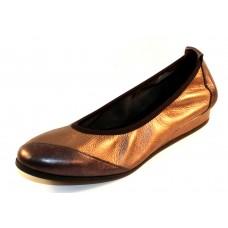 Arche Women's Piazym In Basalt Shade Metallic Leather/Micas Shade Metallic Leather - Pewter/Bronze
