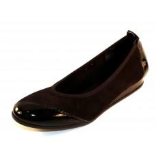Arche Women's Piazym In Noir Nubuck/Lack Patent Leather - Black