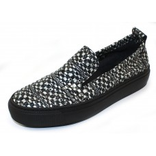 Arche Women's Tbio In Granite Popa Leather - Black/White Embossed