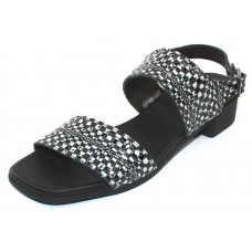 Arche Women's Tinaka In Granite Popa Leather - Black/White Embossed