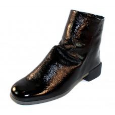 Arche Women's Twinny In Noir Lack Crinkle Patent Leather - Black