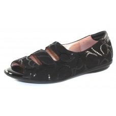 Beautifeel Women's Ariel In Black Rope Printed Suede/Patent Leather