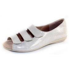 Beautifeel Women's Ariel In Silver Snake Printed Suede
