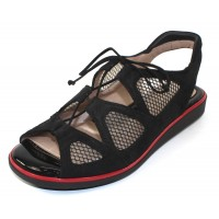 Beautifeel Women's Breeze In Black Suede/Mesh