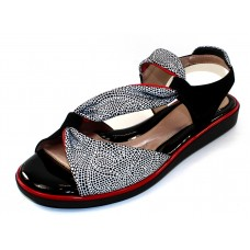 Beautifeel Women's Camille In Black/White Mosaic Embossed Suede/Black Suede/Deep Red Leather