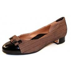 Beautifeel Women's Etta In Nude/Black 3D Spigato/Black Patent Leather