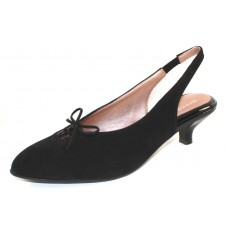 Beautifeel Women's Gilly In Black Suede/Patent Leather Trim