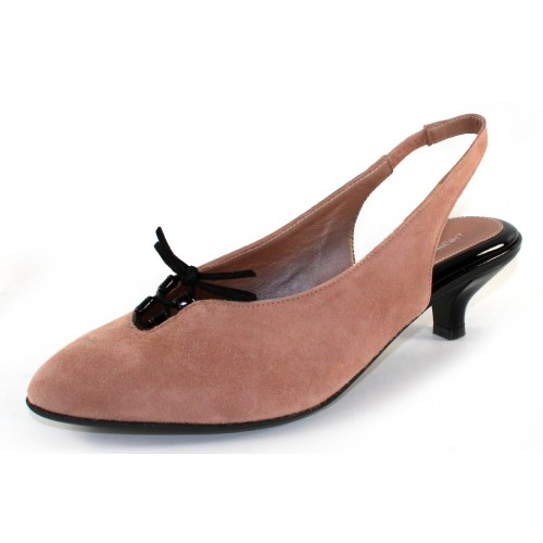 Beautifeel Women's Gilly In Neutral Suede/Black Patent Leather