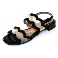 Beautifeel Women's Glory In Black Suede/Nude Mesh