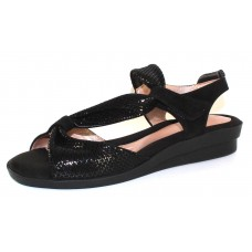 Beautifeel Women's Hailey In Black Shiny Scale Printed Suede