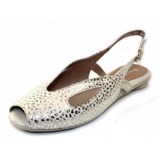 Beautifeel Women's Irma In Ivory/Gold Pebble Embossed Suede
