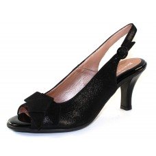 Beautifeel Women's Katerina In Black Mesh Suede/Suede/Patent Leather Trim