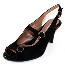 Beautifeel Women's Liela In Black Suede/Patent Leather