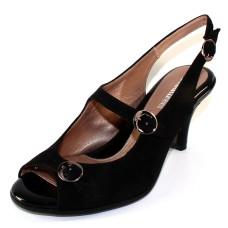 Beautifeel Women's Liela In Black Suede/Patent Leather
