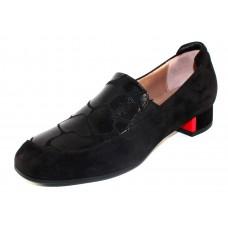 Beautifeel Women's Lexi In Black Suede/Grand Embossed Leather