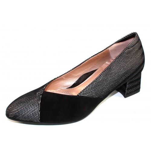 Beautifeel Women's Maddy In Silver/Black Spigato/Black Suede