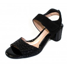Beautifeel Women's Marnie In Black 3D Wild Daisy Printed Suede