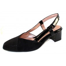 Beautifeel Women's Melody In Black 3D Scale Printed Suede/Suede/Patent Leather