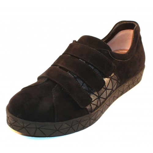 Beautifeel Women's Miki In Black Suede/Origami Embossed Suede