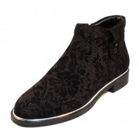 Beautifeel Women's Montana In Black Suede/3D Chantilly Suede